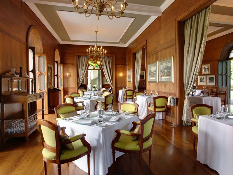 La salle à manger du Château de Bel Ombre à l'île Maurice