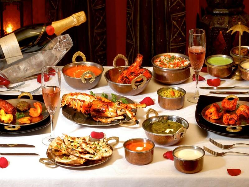 Une variété de spécialités du Happy Rajah à l'île Maurice