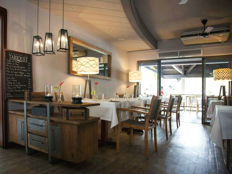 Le restaurant La Sauterelle à l'île Maurice