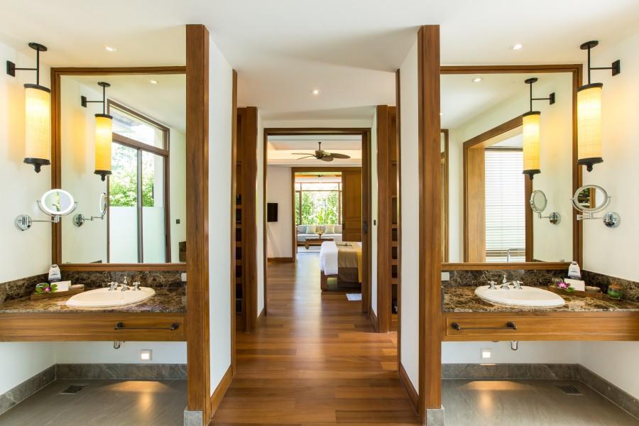 Salle de bain de la Grand Deluxe Pool Villa à Koh Samui