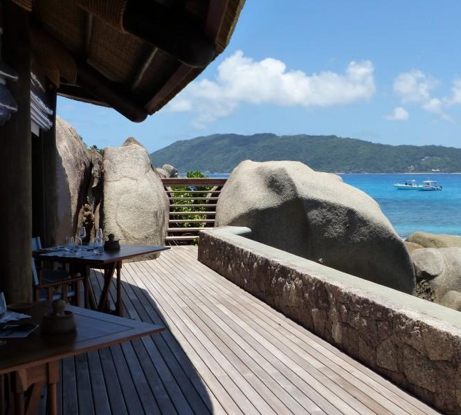 Le restaurant Ocean View au Six Senses Zil Pasyon aux Seychelles