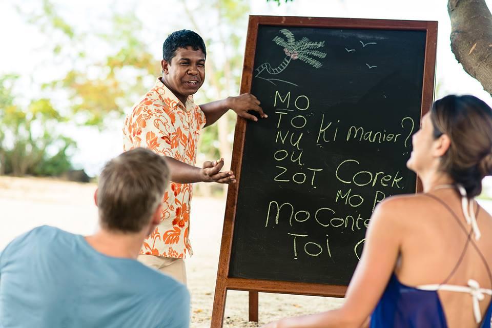 Cours de créole à l'île Maurice