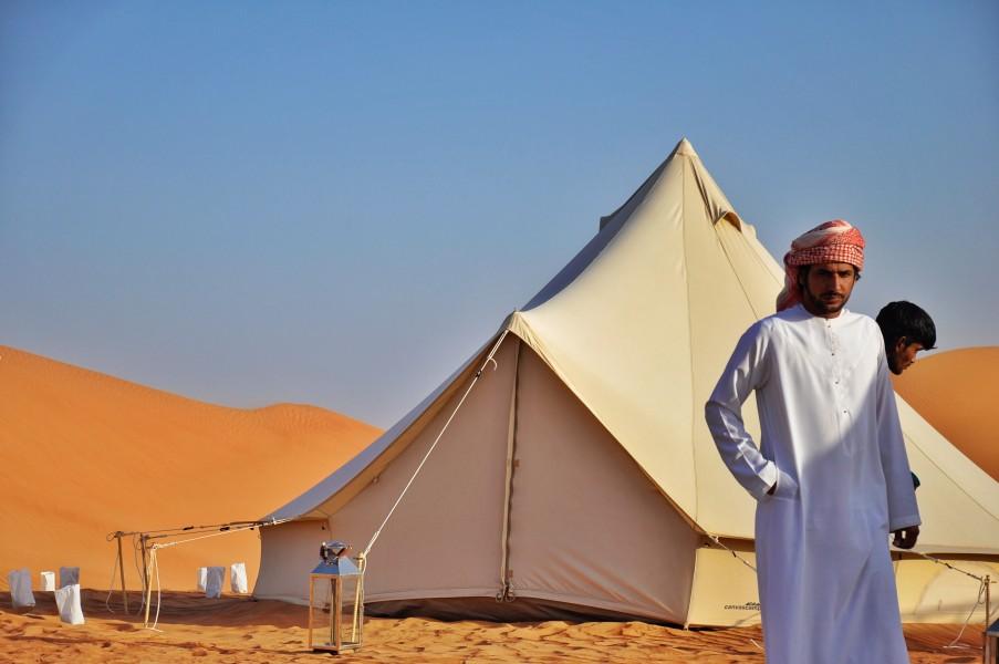 Une des tentes bédouines du camp