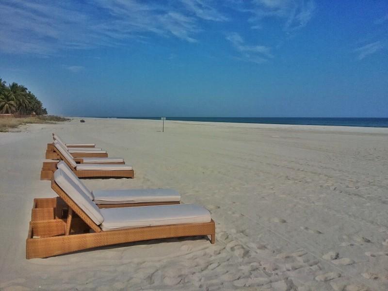 La plage de l'Anantara Salalah