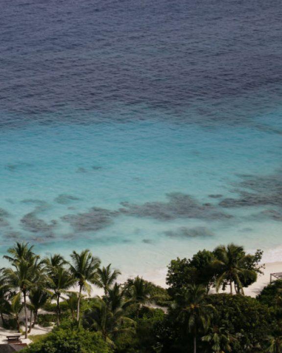 Les différentes nuances de turquoise de Petite Anse