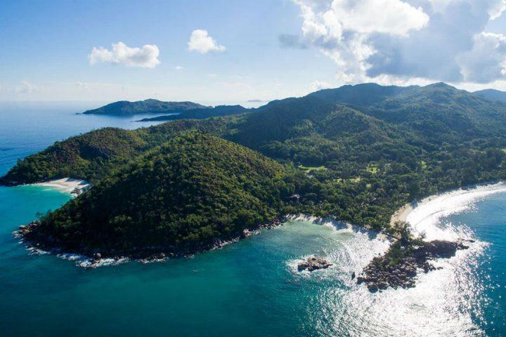 Vue aérienne Constance Lemuria Praslin Seychelles